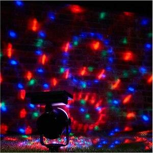 Image 4 - Słoneczna lampa projektora RGB obrotowa kryształowa magiczna kula świąteczna scena dyskoteki światło trawnik zewnętrzny krajobraz ścieżka oświetlenie zewnętrzne