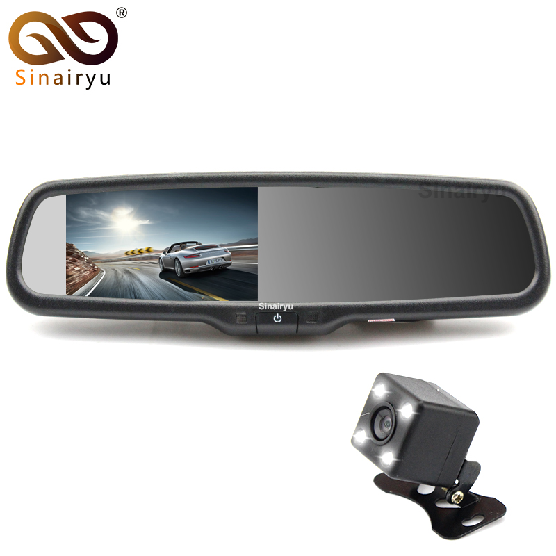 Sinairyu 4.3 LCD Car Rearview back up Mirror Monitor Screen and Auto Rear View Waterproof Backup Camera for Most Car Model car pendant handicraft dreamcatcher feather hanging car rearview mirror ornament auto decoration trim accessories for gifts 30cm
