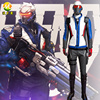 Hot Game Soldier 76 Cosplay Costume Clothing For Adult Men Halloween Party Stage Apperal Suit Full
