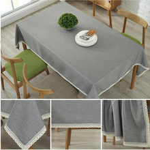 SKTEZO  New Table Cloth Linen Rural Square Tablecloths Rectangular Dinner Table Cover Coffee Table Tea Home Decoration Textile цена