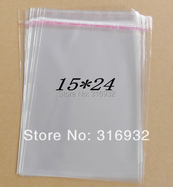 Clear Resealable Cellophane/BOPP/Poly Bags 15*24cm Transparent Opp Bag Packing Plastic Bags Self Adhesive Seal  15*24 Cm