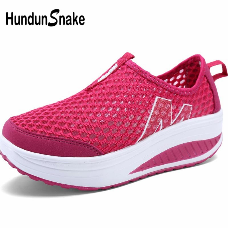 Hundunsnake Slip-On Sports Shoes Lady Sneakers For Women Running Shoes Sport Summer Gym Shoes Women Footwear Red Training A-057