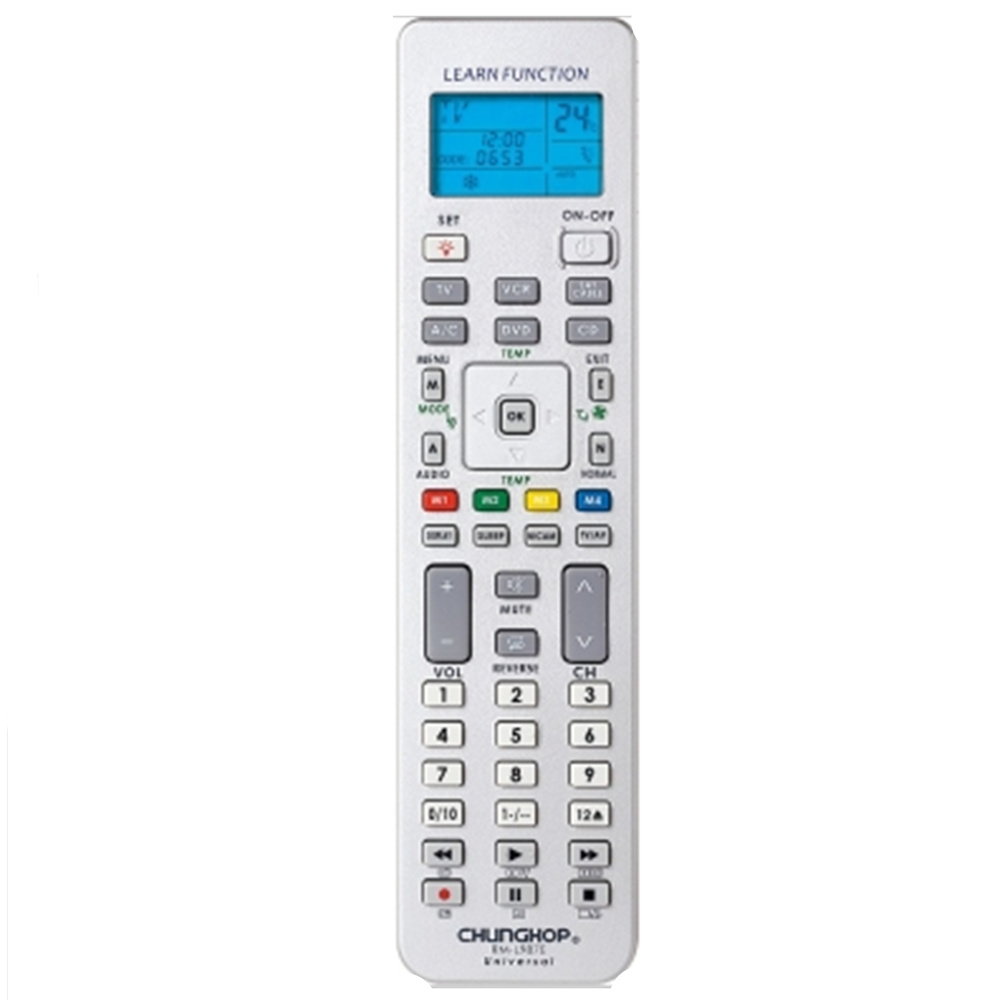 1PCS Chunghop RM-l987e TV/SAT/DVD/CBL/CD/AC/VCR  Smart TV  3D universal remote control learning  equipment with LCD display universal remote control for tv vcr sat cable vcd dvd ld cd amp 2 aa