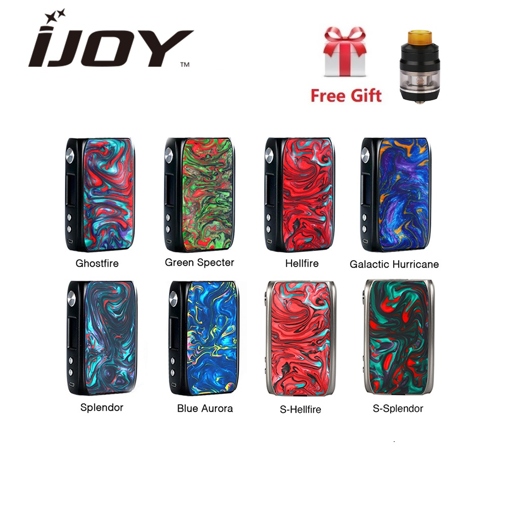 In magazzino iJoy Shogun Univ 180 W Box Mod Vape Alimentato Da Dual 18650 Batteria UNIVERSITY E cigs-Chip set Resina Mod VS Trascinare 2/Trascinare Mini