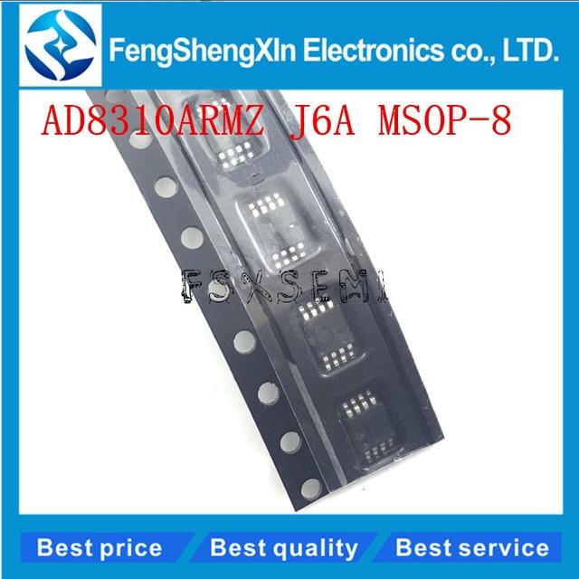 10 pçs/lote AD8310 AD8310ARM AD8310ARMZ J6A MSOP 8 Logarítmica amplificador IC