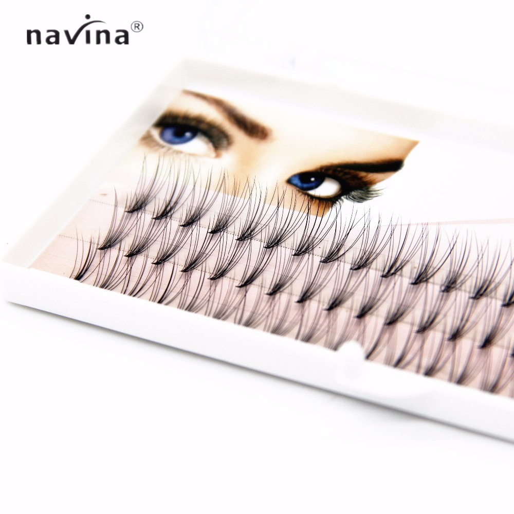 NAVINA 500/pcs nouveauté cils de luxe 6d naturel vison cheveux soie cils extensions de cils faux cils 0.07 épaisseur - 5