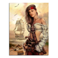 Of The Island Of Sexy Girl 45X60 Cross Stitch Diy Full Diamond Drawing Square Supplies Embroidered
