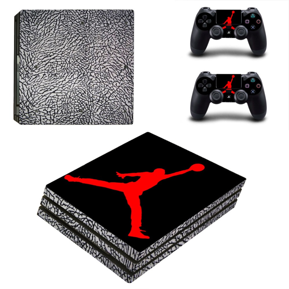 Air Jordan Basketball PS4 Pro Skin Sticker Decal For Sony PS4 Pro Playstation 4 PS 4 Console and Controllers Skin Stickers