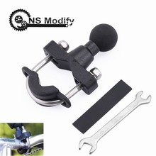 NS Modify Motorcycle Handle Bar Rail Mount Rail Rod Mount Base With 1 inch Ball For Gopro GPS Work Ram Mounts