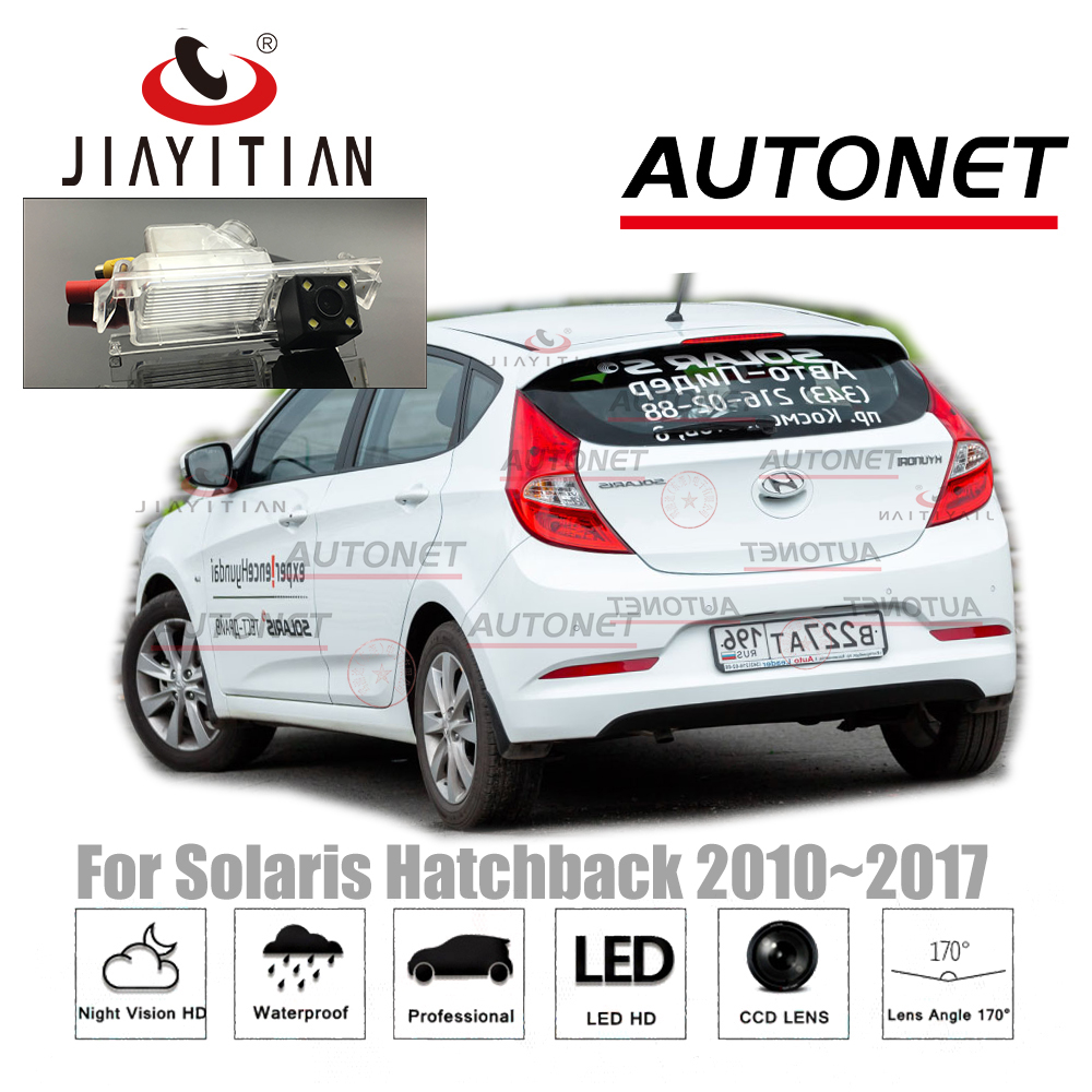 JIAYITIAN Rear View Camera For Hyundai Solaris Hatchback 2010~2017 2013 2014 2015/CCD/Night Vision Parking Backup Reverse Camera