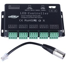 DC5V-24V 12Channel RGB DMX LED controller DMX decoder&driver LED strip module 0 24v top mosfet button irf520 mos driver module