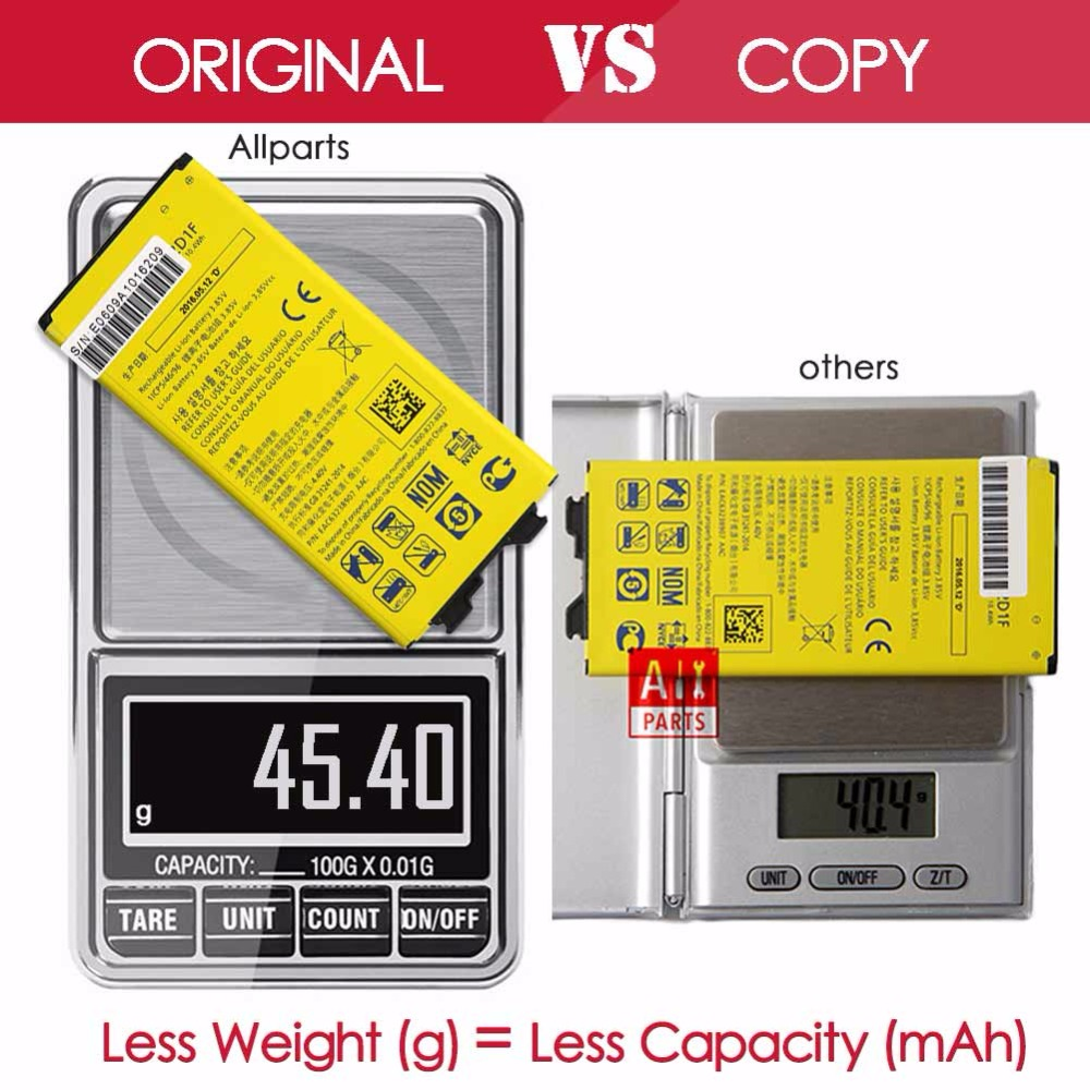Allparts 100 Tested New 2700mAh BL 42D1F Li ion Mobile Phone Battery For LG G5 Battery
