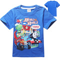 Thomas and Friend Boys T-shirt New Summer Short Sleeve Cotton Boys T Shirt Cotton Toddler Baby Kids Cartoon Tops Tees
