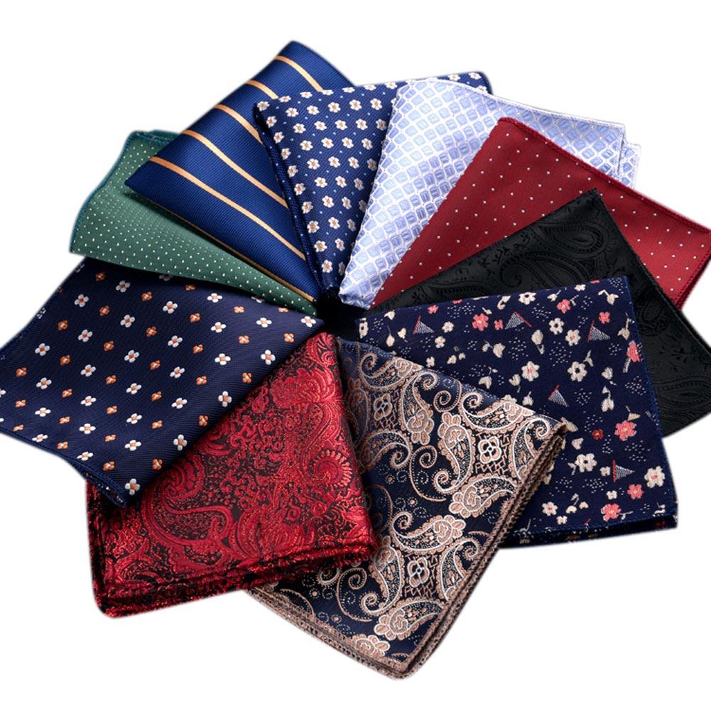 Luxury Men Print neckerchief   Pocket  Square Towel Trendy Banquet Handkerchief Gentleman Suit Print Hanky FS99