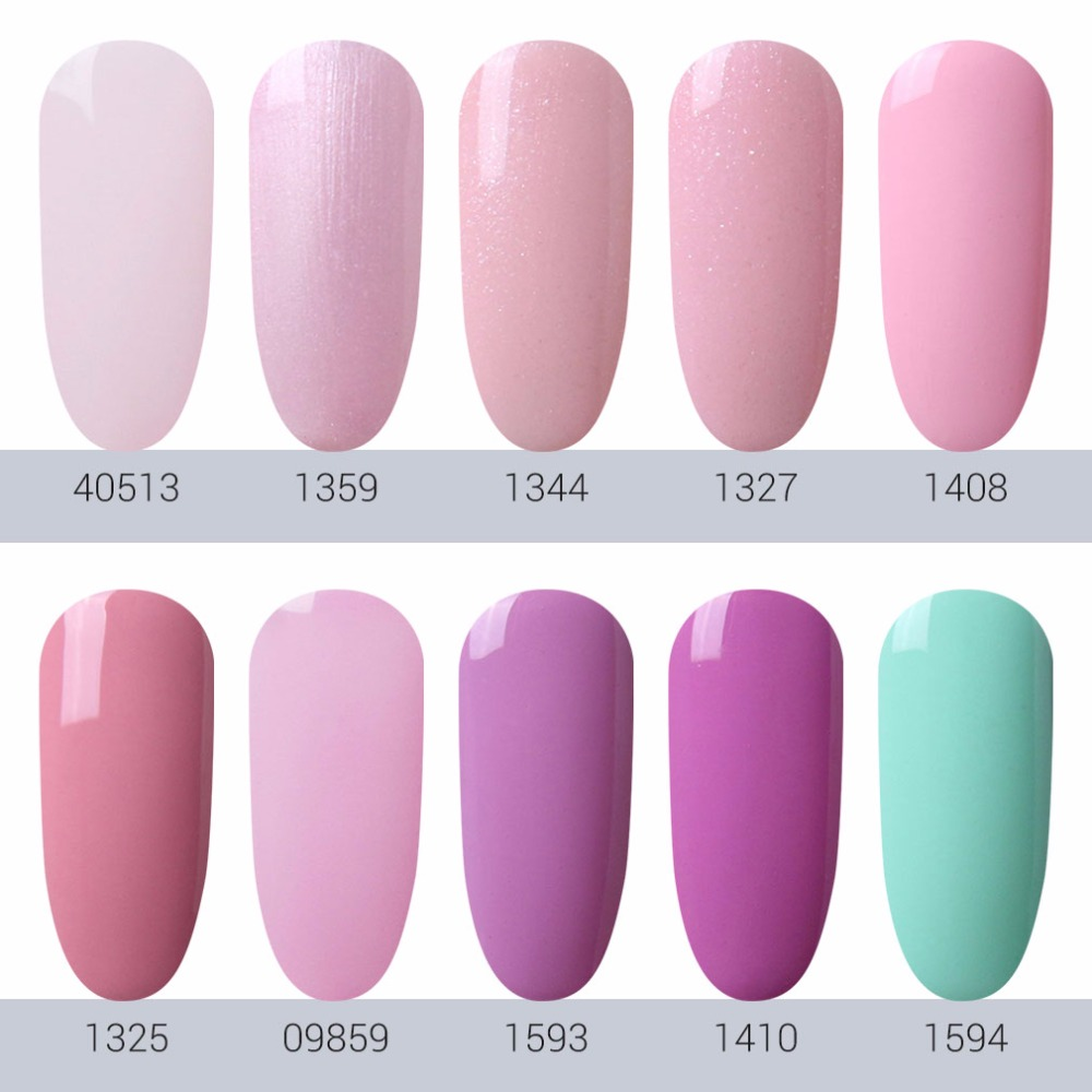 HNM Light Color 8ml Gel Nail Polish Hybrid Semi Permanent UV LED Lucky Ink Varnishes Gelpolish GelLak In From Beauty