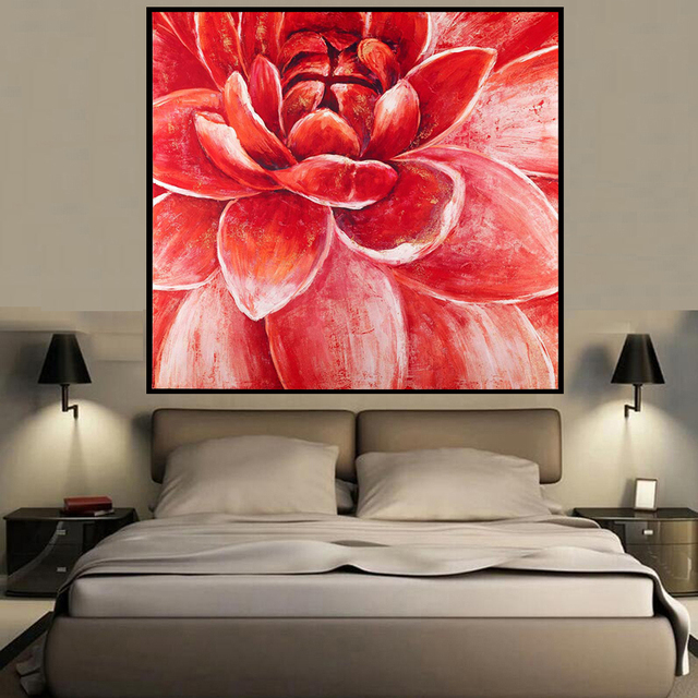 New Designer Blossom Flower HD Printing Wall Art Oil Painting Home  Decoration Bedroom Living Room Kids
