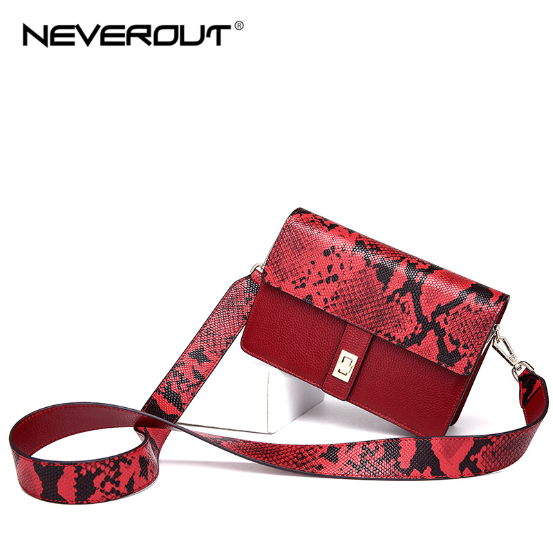 NEVEROUT Fashion Black/Wine Red Soft Women's Genuine Leather Bags Ladies Small Shoulder Sac Crossbody Purse Flap Messenger Bag все цены