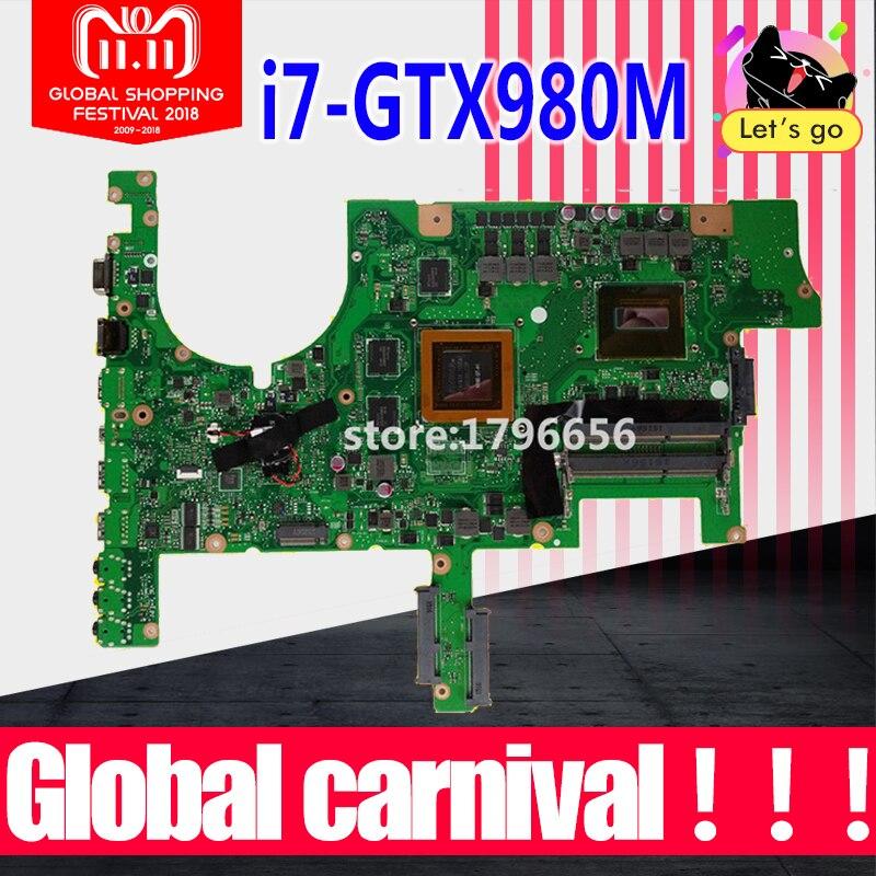 G751J carte mère pour asus G751 G751JY G751JT G751JM ordinateur portable carte mère avec I7-4860H CPU GTX980 4 GB carte mère Test 100% OK