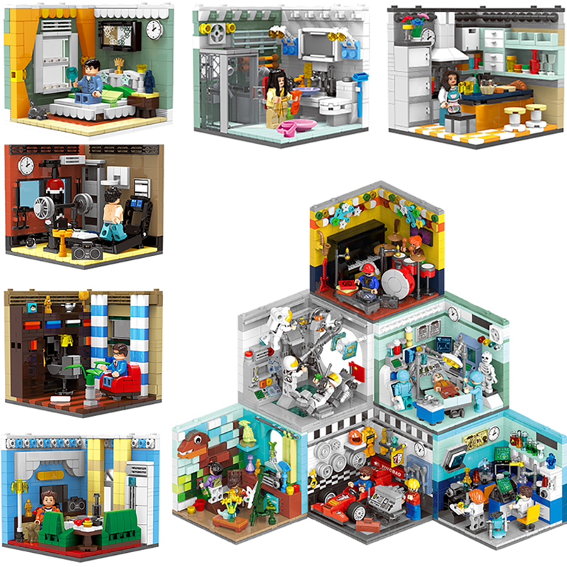 XINGBAO 1401 Genuine Building Series The Living House Kitchen Doctors Set Educational Building Blocks Model Action Toy Kids Gift