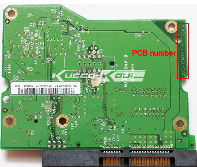 HDD PCB Circuit Board 2060-701474-004 REV A For WD 3.5 SATA Hard Drive Repair Data Recovery