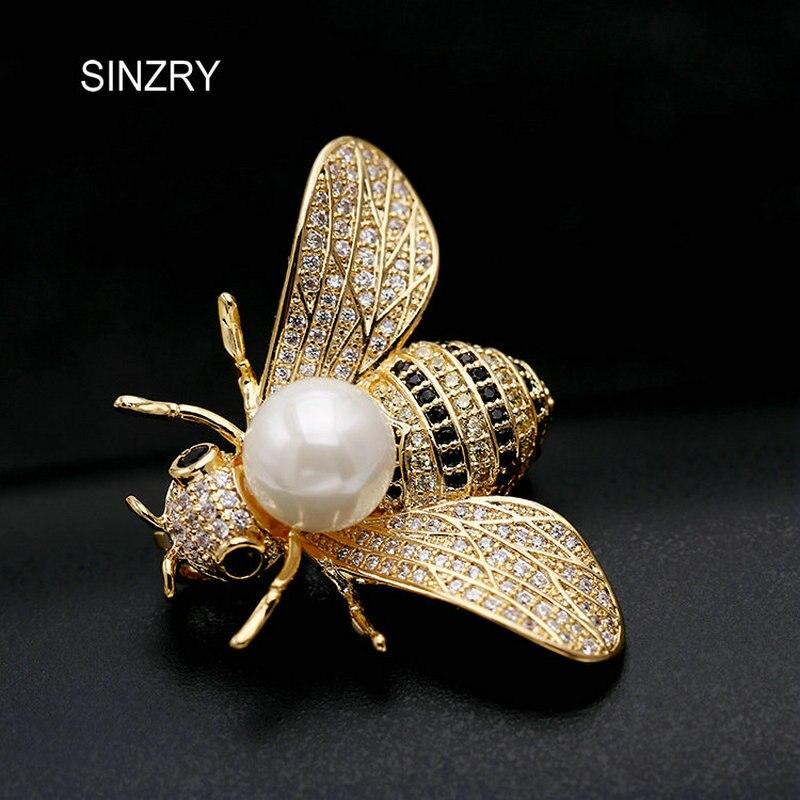 SINZRY Original design CZ brosche schmuck cubic zirkon steine kleid broschen pin dame schal taste schmuck geschenk