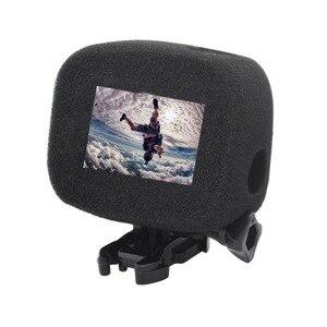 Image 5 - Pesce pagliaccio per Gopro custodia antivento parabrezza parabrezza parabrezza copertura telaio spugna HERO 5/6/7/8 accessori fotocamera nera
