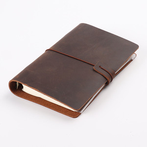 Image 2 - Hot Sale Classic Business Notebook A5 Personal A7 Genuine Leather Cover Loose Leaf Notebook Travel Journal Sketchbook Planner