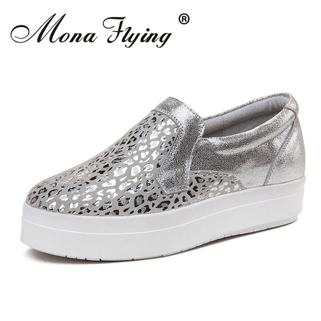 Women Flat Platform Loafers Shoes 2017 Brand Women Leather Casual Platform Shoes For Ladies New Fashion Flats Shoes Women 2528