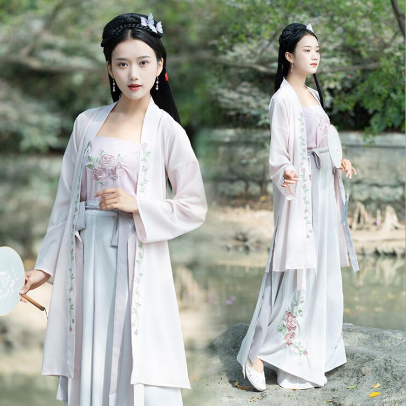 Hanfu Women Chinese Dance Costumes Qing Dynasty Costume Chinese Hanfu Women Chinese Folk Dancewear