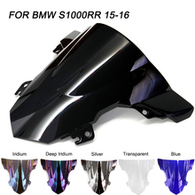 ABS Windscreen For BMW S1000RR K46 2015 2016 Double Bubble Motorcycle Windshield Iridium Wind Deflectors ljbkoall abs windshield windscreen visor viser double bubble motorcycle parts for bmw g310r g 310r 2016 2017 2018 black smoke