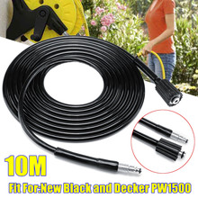 10 Meters High Power Pressure Washer Water Cleaning Hose Extension Hose Washing Tube For New Black For Decker PW1500