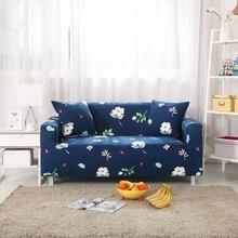 Blau Blumen Couch Ecke Sofa Covers Polyester Hause Dekoration Universal Stretch Mbel Abdeckungen Fr Wohnzimmer Anti Schmutzig