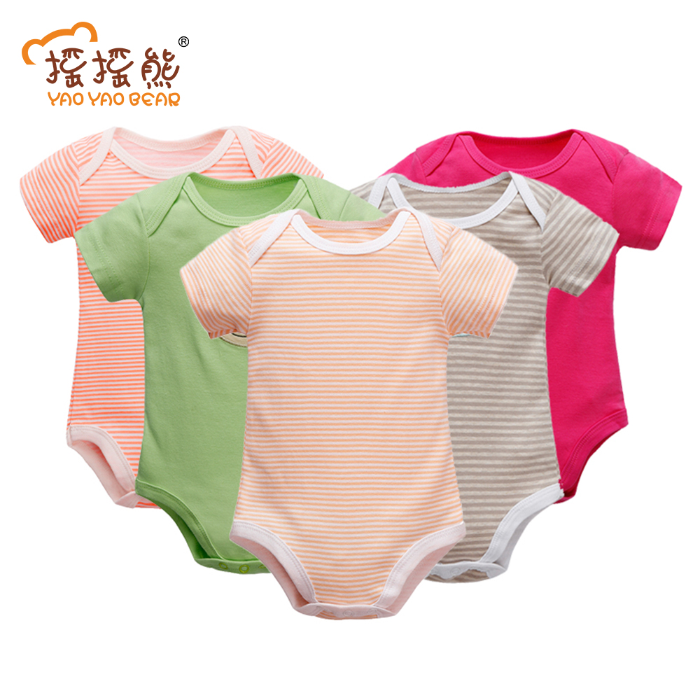 Baby Clothes 5 Pieces/lot Baby Romper Girl and Boy Short Sleeve Summer Clothing Newborn Sets of Clothes for Girls and Boys glasgow k girl in pieces