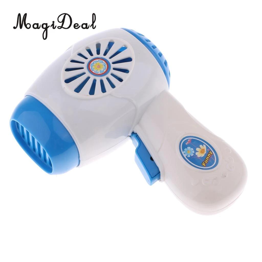 1 adet simülasyon oyuncak Mini ev aletleri modeli oyuncaklar çocuklar için  bebek rol oynamak oyuncaklar mavi saç kurutma makinesi saç kurutma makinesi Furniture  Toys