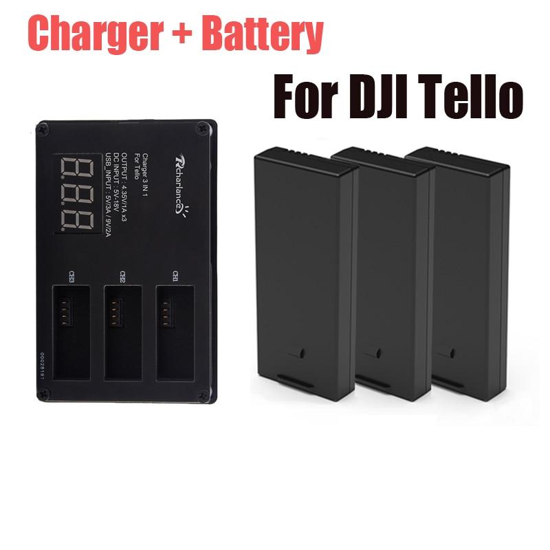 Original DJI Tello Battery + Drone Tello Battery Charger Charging For Dji Hub Tello Flight Battery Accessories