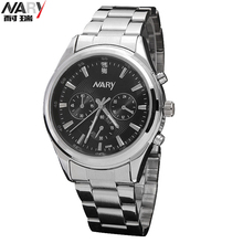 NARY Brand Lovers Watches Couple Luxury Fashion Business Men Full Steel Watch Quartz Waterproof Women rhinestone