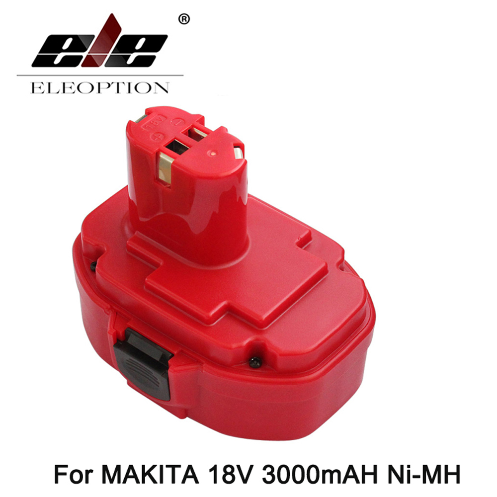 ELEOPTION 18V 3000mAh Rechargeable Battery Pack Power Tools Batteries Replacement Ni-MH Battery for Makita Drill 1822 1835 PA18 24v 3000mah 3 0ah rechargeable battery pack power tools batteries cordless drill ni mh battery for makita bh2430 bh2433