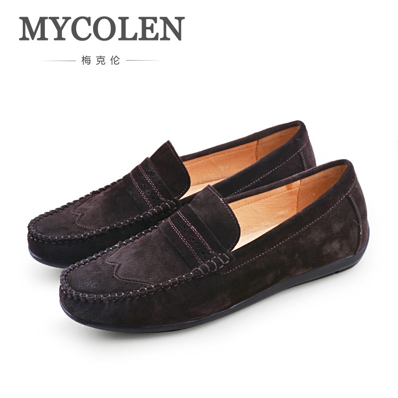 MYCOLEN Spring And Summer Men Casual Shoes Slip On Fashion Driving Shoes Mens Loafer Moccasins Zapatos Para Hombre Casual mycolen new slip on casual men loafers spring and autumn moccasins mens shoes genuine leather men s shoes zapatos hombre