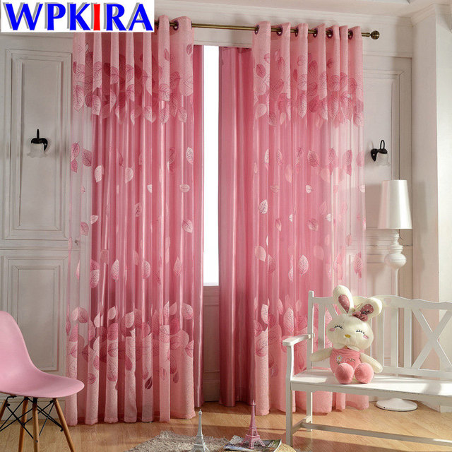 Modern Cloth Curtain For Living Room cortinas blackout leaves ...