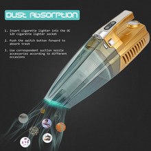 Newest Car Vacuum Cleaner 100W 4 IN 1 High-Power  Super Wet & Dry Suction Dust Buster With Inflatable Pump/Tire Pressure Gauge