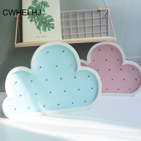 Lovely 3D LED Cloud Lightling Kids Room Decoration Crafts Nightlight Wood Baby Birthday Party Decor Wall