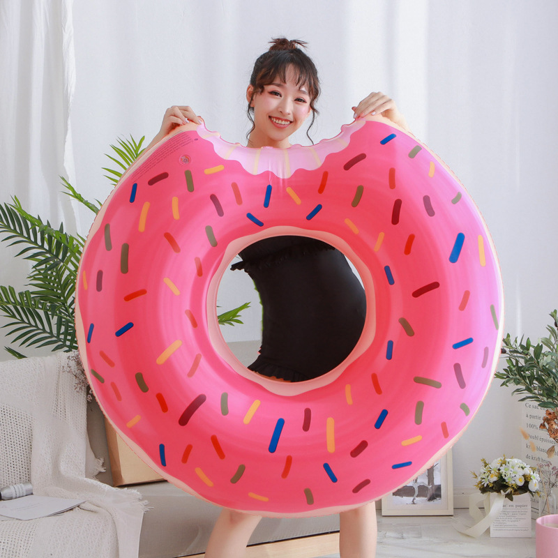 60CM Inflatable Donut Swimming Ring Giant Pool Float Toy Circle Beach Sea Party Inflatable Mattress Water Adult Kid