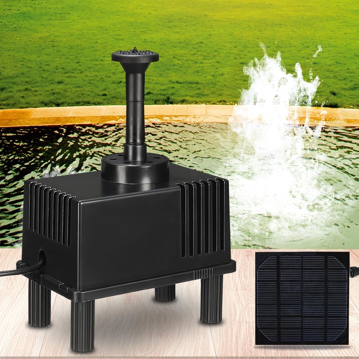 все цены на Mini Water Pumps Solar Powered Panel Kit Water Pump Aquarium Fountain Pool Garden Fish Tank Pond Submersible Watering