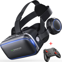 Original VR Shinecon 6.0 Standard Edition 3D VR Virtual Reality Glasses Headset Helmets Optional Controller for Smart Phone
