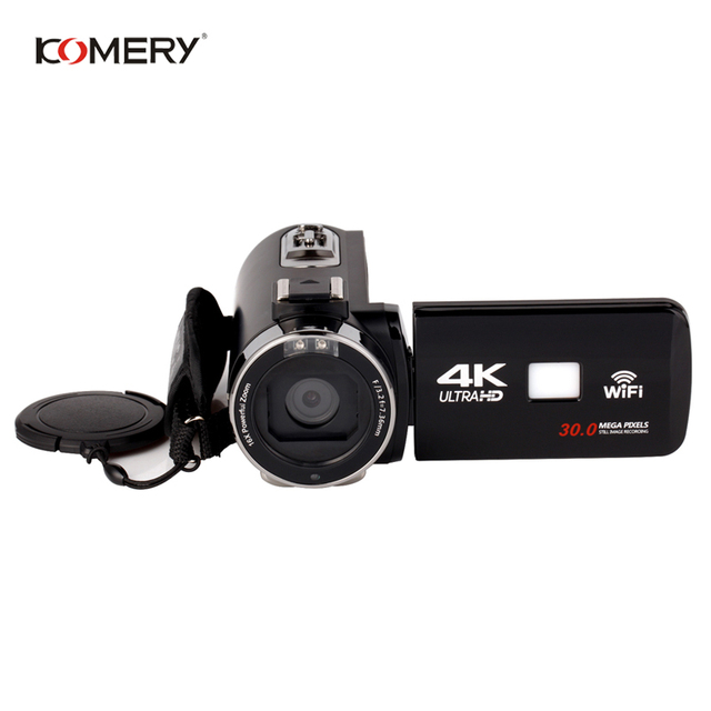 Genuine KOMERY 4K Video Camera Wifi Night Vision 3.0 Inch HD Touch Screen Time-lapse Photography Camcorders Three-year warranty 1