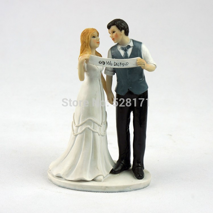 china wedding cake toppers free shipping popular wedding figurine custom 12657