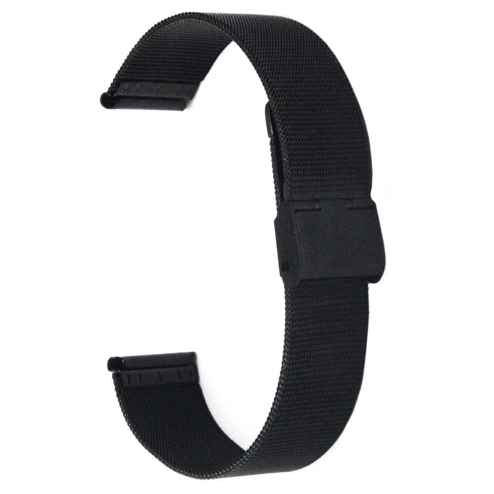 """ממילאנו נירוסטה צפו בנד עבור Rado רצועת השעון 16 מ""""מ 18 מ""""מ 20 מ""""מ 22 מ""""מ 24 מ""""מ גברים נשים מתכת רצועת חגורת פרק כף היד לולאה צמיד"""