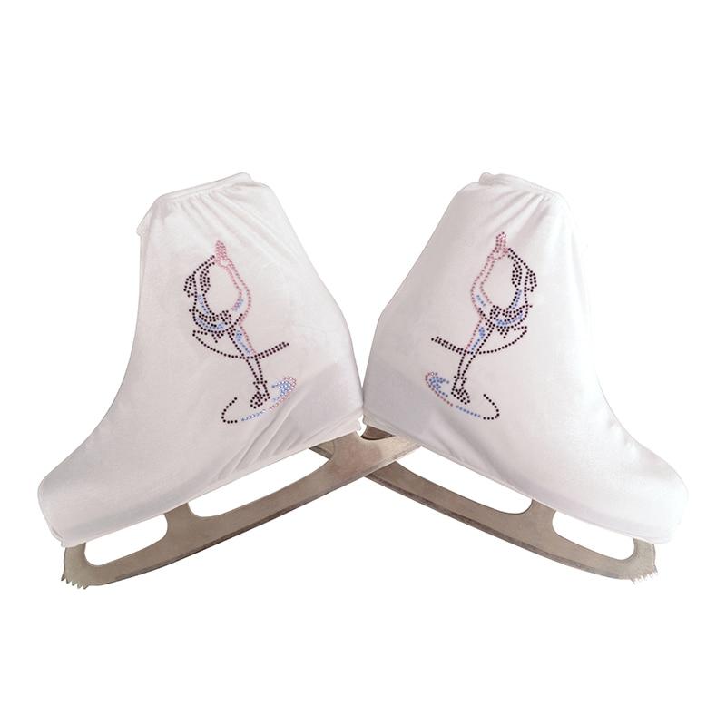 Nasinaya Konståkningskor Skyddsmycke för barn Vuxen Skyddande Rullskridsko Skridskor Tillbehör Skinnande Rhinestones 6
