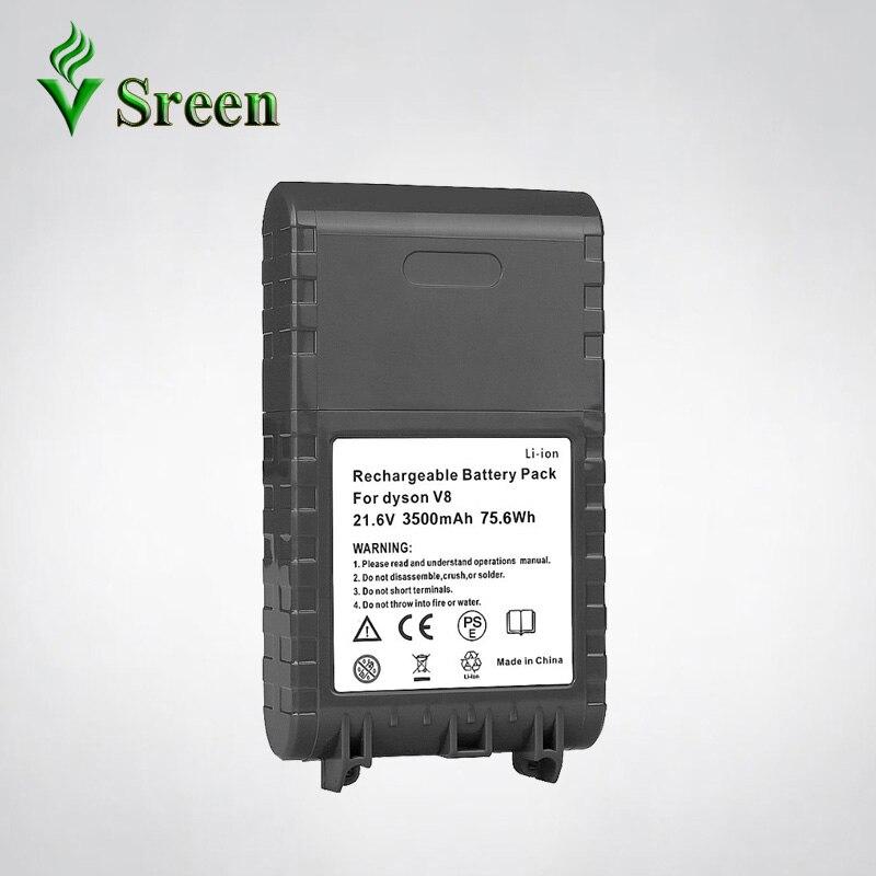 21.6 V 3500 mAh V8 Li-ion batterie rechargeable de Remplacement pour DYSON Batterie Animal Absolue V8 V9 Série aspirateur Batterie