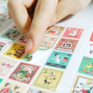 4 Sheet 80 Stamp Stickers Francoise Stamp Theme Decorative Sticker Diary Journal Scrapbook DIY Paper Stickers scrapbook diy photo cards account rubber stamp clear stamp transparent stamp cartoon seal handwork art animal dog duck